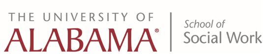 The University of Alabama's School of Social Work Logo